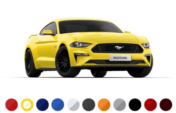 Ford-Mustang-2022-cores-600x387 Ford Mustang 2022: Preço, Consumo, Ficha Técnica e Fotos
